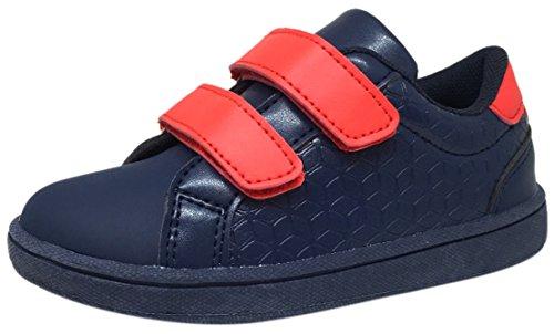 My Brooklyn Boys Girls Vegan Flexible Lightweight Reinforced Toe Double Hook and Loop Sneaker