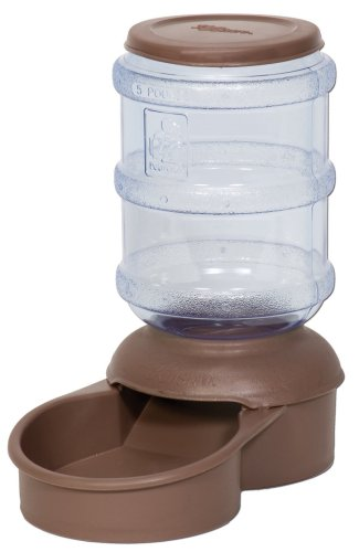 Petmate Le Bistro 5-Pound Feeder with Microban, Dark Taupe
