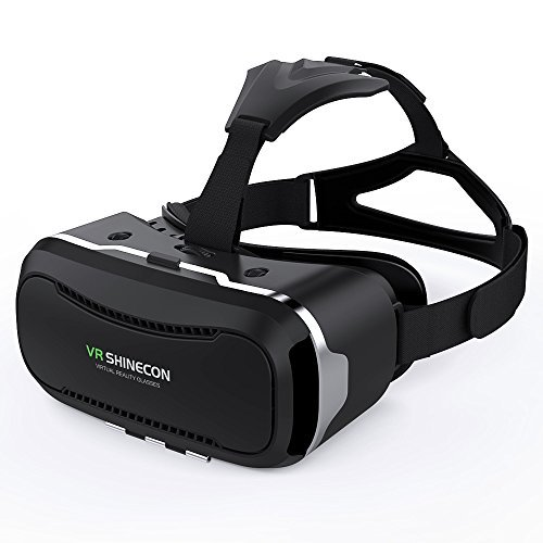 VR SHINECON 3D VR Headset Virtual Reality Goggles - 3d Vr Glasses  Headsets for Video Movies&Games Compatible with iPhone and Android Smartphone