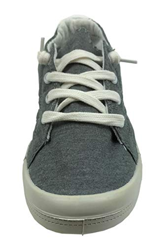 Forever Link Womens COMFORT-09-DKGRY Fabric Closed Toe, Charcoal, Size 8.5