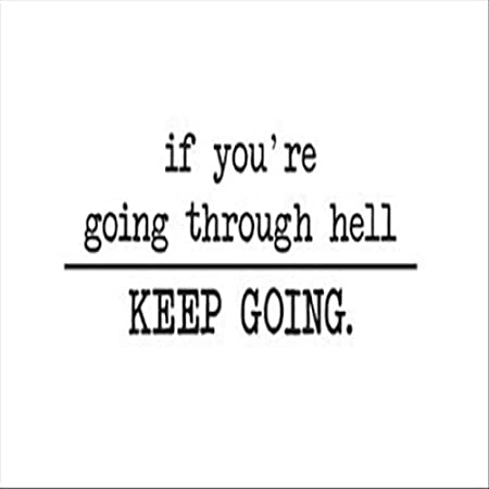 Vinyl Wall Art Decal Sticker Heaven and Hell Quote 5174m