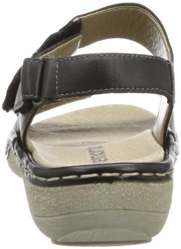 Remonte Remonte D7654 - Sandalias de cuero para mujer, color negro, talla 36 Negro (Schwarz (schwarz/grey/schwarz 01))