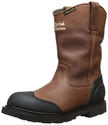 Chippewa Men's 10 Inch Heavy Duty Oiled Waterproof Pull-On Utility Boot,Brown,12 XW US