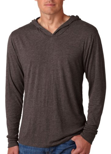 Next Level Apparel Tri-Blend Extreme Soft Rib Knit Hoodie, MACCHIATO, X-Small by Next Level Apparel