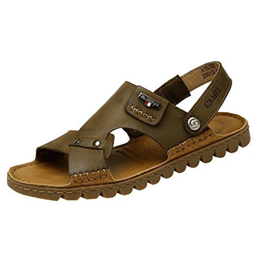 Décontracté Sangle Marron En Et Homme Khaki Pour chaussons D'été Antidérapante Clubs Cuir Sandales Spades cAgqzRWz