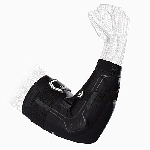 DonJoy Performance Bionic Elbow Brace – Maximum Hinged Support for Elbow Hyperextension, UCL, Tommy John Ligament Injury, Dislocated Elbow for Football, Lacrosse, Rugby, (Right Elbow)