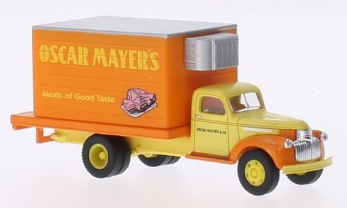 (Chevrolet 41/46 Delivery Truck, Oscar Mayers, Model Car, Ready-made, Classic Metal Works 1:87)