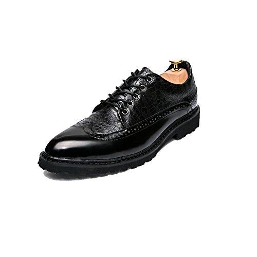 Business da Rete Scarpe Bean Casual Black Morbido A da Scarpe Traspiranti Punta Fondo Oxford Tonda Uomo Pigro Scarpe qfxwpRwd