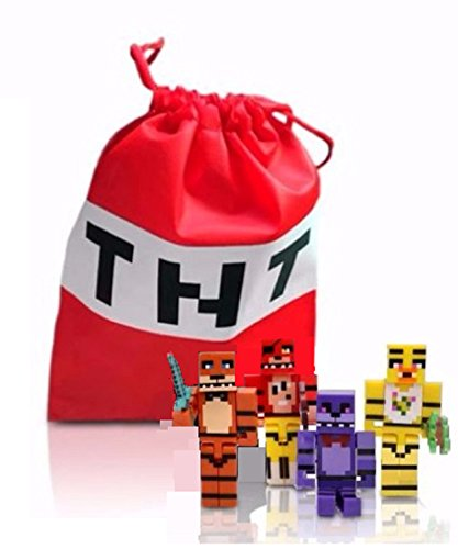 FAT CAT SALES TNT BAG & FNAF MINI ACTION FIGURES BOXED SET ()