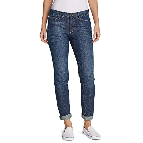 Eddie Bauer Women's Boyfriend Jeans - Slim Leg, Heritage Wash Petite 14