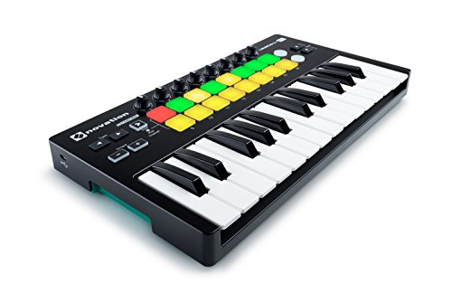 Novation Launchkey Mini 25-Note USB Keyboard Controller for Ableton Live, MK2 Version (LAUNCHKEY-MINI-MK2)