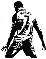 Glitched Cristiano Ronaldo Wall Mural / Wall Sticker Vinyl Football / Soccer Home Decor Black