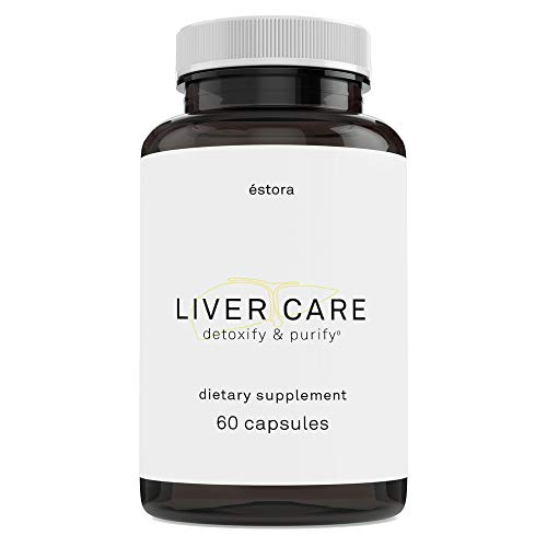 ESTORA Vegan Liver Care Supplement (60 Vegetable Capsules)
