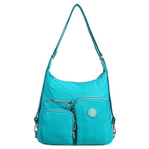 Ladies Cyan Blue Satchel Hobo for Backpack Convertible Crossbody Pockets Handbag Bag Shoulder Artwell Multi Women Bag Purse 6BAw1q