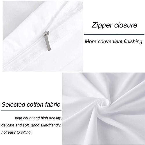 GYKLY Parure de lit Impression 3D Polyester Fille Papillon Conception Invisible d'ouverture et de Fermeture à glissière, Pas Facile à endommager,135x200(53x79inch)
