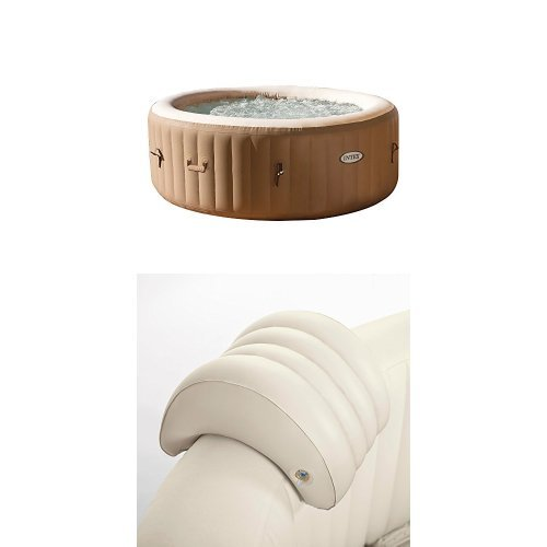 Intex 77in PureSpa Portable Bubble Massage Spa Set and PureSpa Headrest by Intex