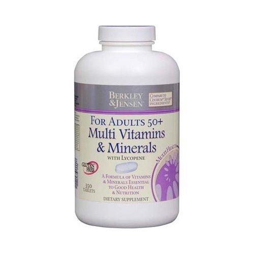 Berkley & Jensen Multi Vitamins & Minerals For Adults 50+ *Compare to Centrum Silver*