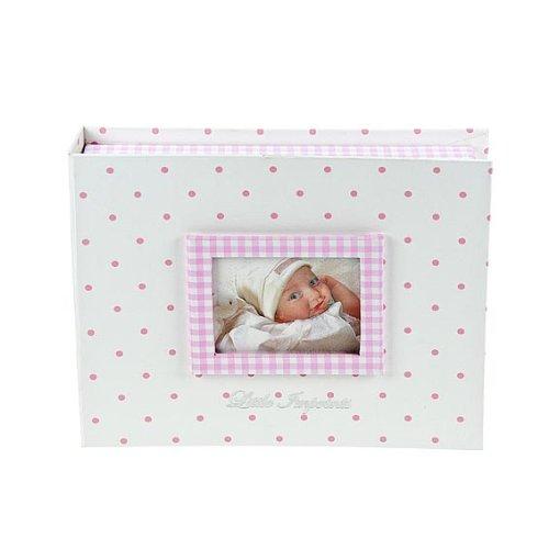 Boîte à souvenirs rose avec kit d'empreinte en argile et un cadre photo Mousehouse Gifts MH-100323