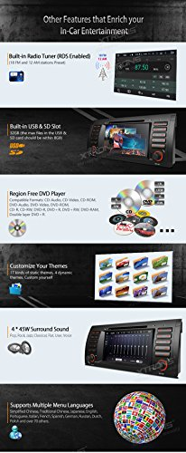 XTRONS Octa-Core 64Bit 2G RAM 32GB ROM 7 Inch Capacitive Touch Screen Car Stereo Radio DVD Player GPS CANbus Screen Mirroring Function OBD2 Tire Pressure Monitoring for BMW E53 X5 by XTRONS (Image #8)