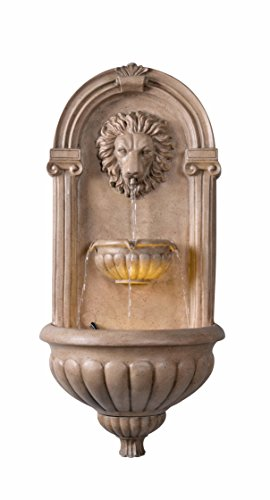 Kenroy Home 51043SNDST Royal Wall Fountain with Light, Sandstone Finish by Kenroy Home (Image #6)
