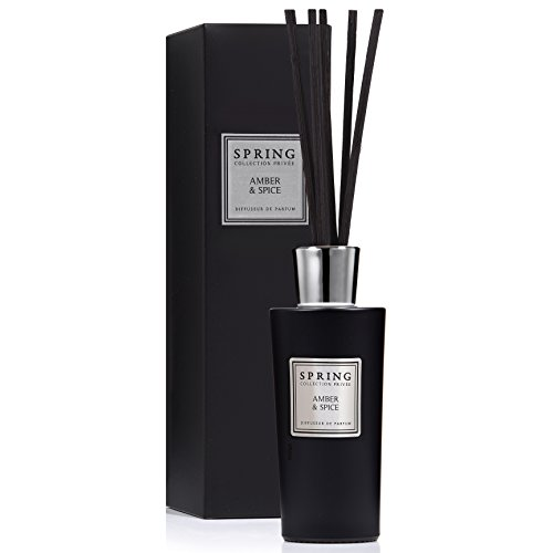 SPRING Private Collection Scented Fragrance Oil Reed Diffuser & Room Freshener | Amber & Spice 6.1 oz for ()