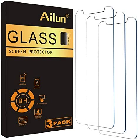 Ailun Glass Screen Protector Compatible for iPhone 12/iPhone 12 Pro 2020 6.1 Inch 3 Pack Tempered Glass.