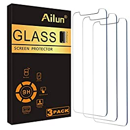 Ailun Glass Screen Protector for iPhone 12/iPhone 12 Pro 2020 6.1 Inch 3 Pack Tempered Glass