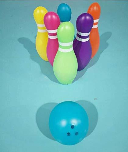 Jiistar Children's new inflatable bowling toy set 6 bottles + 1 ball