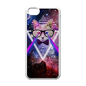 Galaxy Hipster Cat Original New Print DIY Phone Case for Iphone 5C,personalized case cover ygtg551141 by icecream design