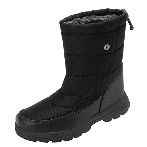 (Men and Women's Waterproof Snow Boot Drawstring Cold Weather Boot,)