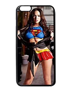 """Megan Fox Superman Image Design Hard Back Case cover skin for Apple Iphone 6 Plus 5.5"""" inches"""