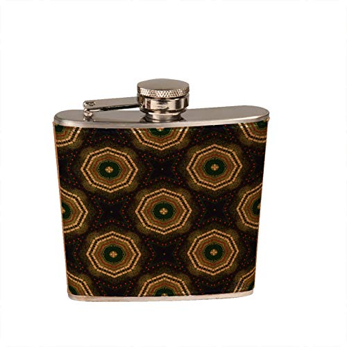 Karma - Leather Wrapped Stainless Steel Liquor Flask