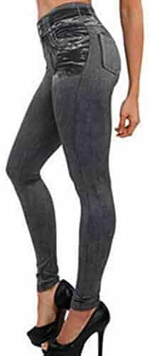 5e4c844e0c3 Creazrise Womens Super Stretch Comfy Denim Skinny Jeans High Waisted-Rise Ladies  Denim