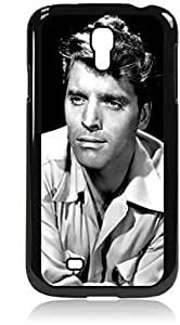 Burt Lancaster - Hard Black Plastic Snap - On Case with Soft Black Rubber Lining-Galaxy s4 i9500 - Great Quality!