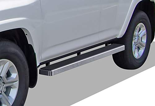 APS iBoard Running Boards (Nerf Bars | Side Steps | Step Bars) for 2010-2016 Toyota 4Runner Trail & 17-19 TRD Off-Road & 2014-2019 SR5 | (Silver 5 inches) (Best Off Road Side By Side 2017)
