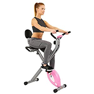 Sunny Health & Fitness Magnetic Folding Recumbent Bike Exercise Bike, 220lb Capacity - SF-RB1117 by Sunny Health & Fitness