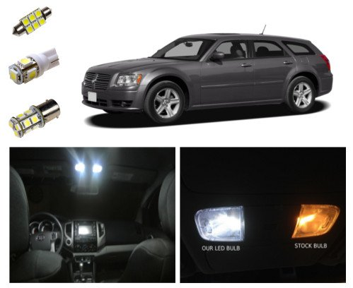 05-08 Dodge Magnum LED Package Kit - Interior + Tag + Reverse (9 pieces)