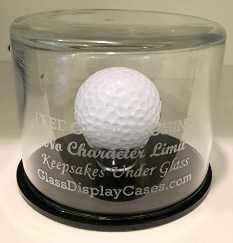 - Golf Ball Etched Glass Hole in One Round Display