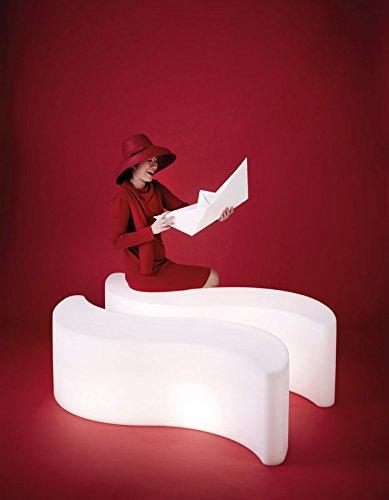 Slide Wave Light Lighting Pouf - Small table Lighting White