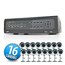 SVAT Electronics CV501-16CH-006 16 Channel H.264 Network DVR System with 16 Surveillance Cameras