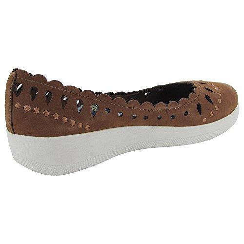 Fitflop Femmes Anna Sui Treillis Ballerine Chaussures Plates Tan