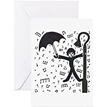 CafePress - Singing In The Rain' - Greeting Card, Note Card, Birthday Card, Blank Inside Matte