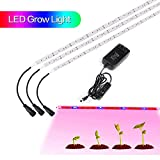 Plant Grow LED Light, MEILLY 3Pcs 1.6ft/ Growing Lamp Strip Light 18W, Waterproof & Flexible Soft Grow Lamp with 2A Power Switch for Indoor Greenhouse Plants Veg, Flower Gardening Plants, Hydroponics