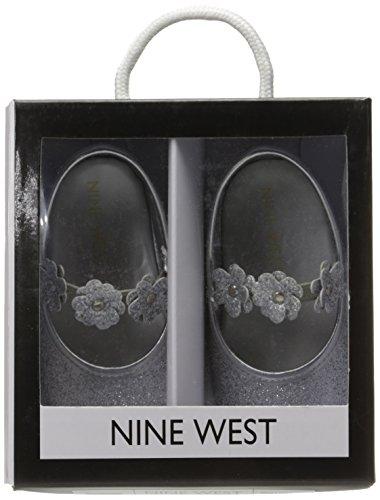Pictures of Nine West Girls' PHOEBEFLOR Flat Silver 3 Silver 3 M US Infant 3