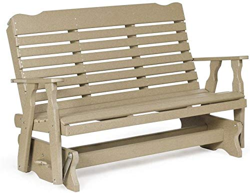 Leisure Lawns Amish Made Recycled Plastic Curve-Back Glider Model #506 - Ships Free Within 2 to 3 Weeks