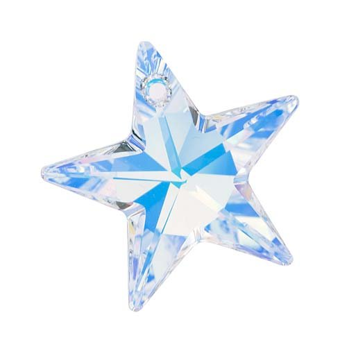 SWAROVSKI ELEMENTS Crystal Pendant, #6714 Star, 28mm, 1 Piece, Crystal (Crystal Ab Star)