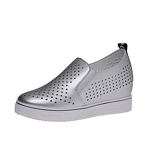 Durchbrochene Schuhe,Koreanische Freizeitschuhe,Kleine Weiße Schuhe,Weiblich In-zimmer Hohe Belüftung Le Fuk Schuhe A