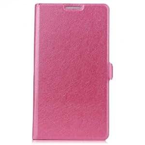 Silk Grain Flip Open PU Leather Case With Stand For Xiaomi Mi3 --- Color:Black