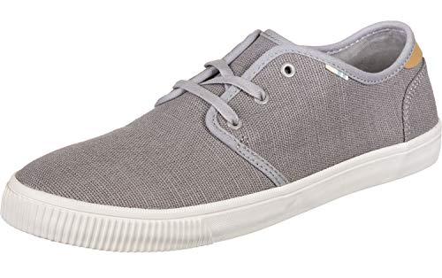 TOMS womens Carlo Sneaker, Drizzle Grey Heritage Canvas (Vegan), 11 US