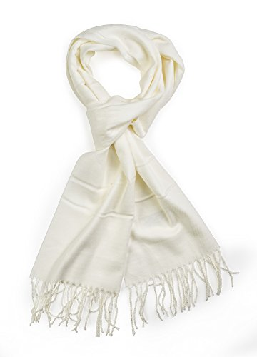 olid Colors Cashmere Feel Winter Scarf white ()